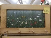 Butterflies & Dasies Art Framed Peg-Board