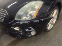 Automotive bumper repair,paint damage,cracked bumpers,ect
