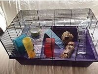 Hamster or Mice cage on 2 levels with accessories
