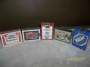 Double Decks of Unopened Beer Playing Cards