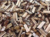 Part seasoned poplar firewood logs cut + split super value timber ideal for a stove or open fire bbq