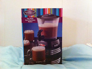 NOSTALGIA 50'S STYLE HOT CHOCOLATE MAKER NEW IN BOX!!