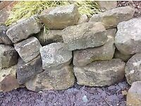 Real rockery stones - approx 20 (various sizes)