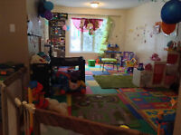SUBSIDIZED DAYCARE AVAILABLE/PLACE DISPONIBLE A 7,30$/JOURS