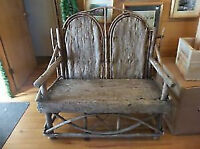 Double Chair 80 Year Old Twig Love Seat