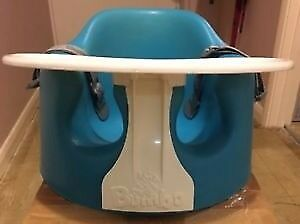 Bumbo baby seat with tray and straps - blue perfect condition