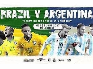 Argentina vs Brazil * GOLD TICKETS x3 Melbourne CBD Melbourne City Preview