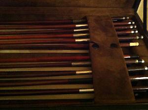 Collection des archets des violons,alto,cello et contrebasse