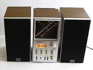 Vintage ROTEL bookshelf stereo - Beautiful sound !
