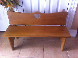 Solid Wood Childs Bench