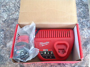 Brand new never used Milwaukee M12 Battery and charger