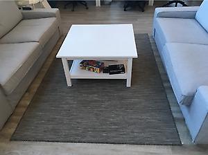 HEMNES Table basse, teinté blanc (valeur de 149,00$)