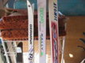 X-COUNTRY SKis w/bindings+poles-$49 obo