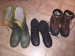 MEN'S BOOTS, WORK BOOTS AND SHOES (Estate sale)