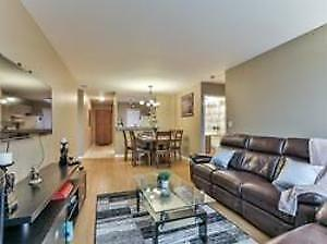 Stunning 2 B/R + Den Condo with 2 Parkings At Prime Location