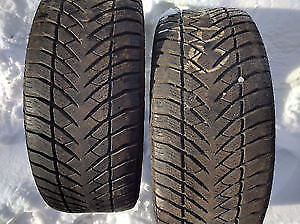 245 55 r18 TWO GOODYEAR EAGLE ULTRA GRIP ICE WINTER TIRES $100