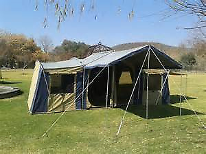 Oztrail Canvas Chateau 10 Tent with Sunroom