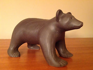 NEW IN BOX: DOG RIVER POTTERY BROWN BEAR