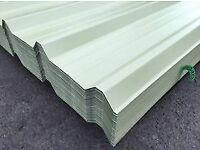 Roofing tin cladding white
