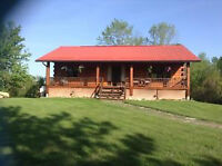 Beautiful Country Log Home For Sale