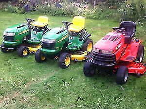 TOP CASH PAID FOR YOUR UNWANTED JOHN DEERE LAWN TRACTOR