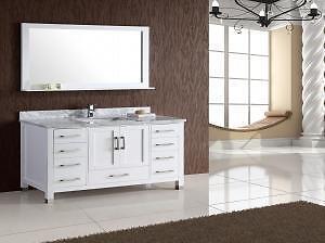 """** NOW ON SALE **  Armada 60"""" Bathroom Vanity White / Espresso $1299"""