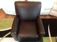 TRUE Brown Leather Children Recliner. Ex Display.NEW CONDITION RRP£68