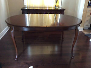 "GIBBARD SOLID CHERRY DINING TABLE - 64"" X 42"" plus TWO 16"" LEAVE"