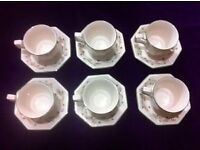 Eternal Beau Cups and Saucers x 6 - Other items on sale - Discounts available.