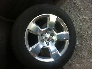 2016 Chevy Tahoe 20 inch Polished Alloy /Continental tires