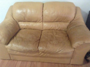 leather loveseat delivery included