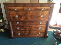 Antique Chest and Tables