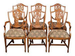 Merveilleux Antique Mahogany Dining Chairs