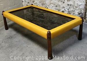 Percival Lafer Mid-Century Modern Brazilian Rosewood and Leather Coffee Table Model MP-81