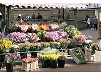 Florist required to manage a new stand in West London on Friday, Saturday and Sunday.