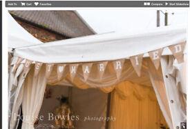 'Just Married'- hessian wedding bunting