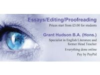 Editing/Proofreading/Websites Service
