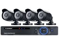 Complete 4 camera 2000tvl 1080n HD CCTV security system - brand new