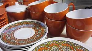 Vintage Orange and Mosaic Melmac Dinner set Thorneside Redland Area Preview