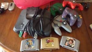 Nintendo 64 with 4 controls + 3 Games Point Lonsdale Outer Geelong Preview