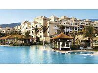 Last Minute £1,000(cost £2,500)1wk+flights+FullBoard5star for 2, Sensatori Hotel,Tenerife.6-13 Sep