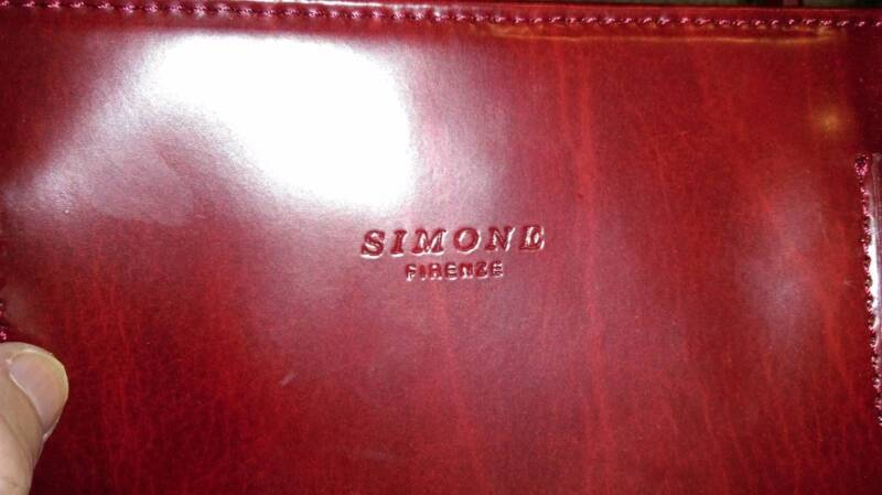 Authentic Simone Firenze Red Leather Handmade In Florence Italy Bags Gumtree Australia Whittlesea Area Thomastown 1155647142