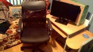 Dell monitor 20 inch  and computer chair.150.00 Firm