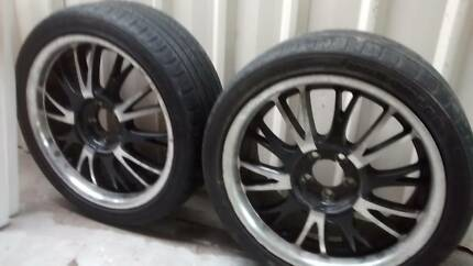 Four 17 inch Mag wheels and 215/45/17 tyres