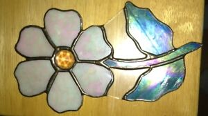 Small stained glass cat, flower and iris for sale London Ontario image 2