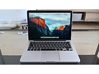 Apple Mac book pro 13 inch Retina display 256gb flash storage 8gb RAM