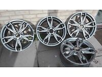 BMW 18 436M Alloy Set Staggered Ferric Grey Excellent Condition Rims
