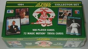 1991 SCORE BASEBALL COMPLETE FACTORY SEALED 900 COLLECTOR SET