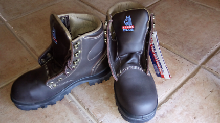 Steel blue boots Brand new with tags
