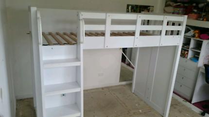 Kids bunk loft bed